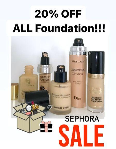 Sephora sale! 20% off ALL foundation!   #LTKbeauty #LTKsalealert #LTKSale
