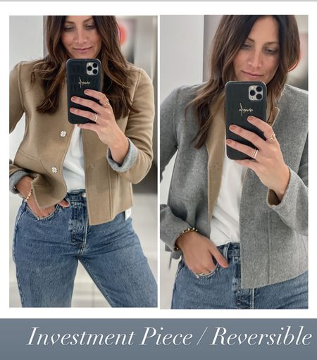 This reversible jacket is an investment in the Nordstrom anniversary sale but love that it can be worn two ways   #LTKsalealert #LTKstyletip #LTKworkwear