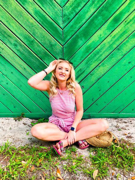 Pink striped romper the perfect casual summer look. #LTKunder50 #LTKspring #LTKstyletip http://liketk.it/2PsaE #liketkit @liketoknow.it