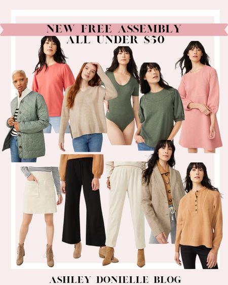 New Free Assembly items all under $50 - bodysuit, jackets, blazer, sweater, white skirt, dress + more! @walmart @walmartfashion #ad #walmartfashion  #LTKSeasonal #LTKworkwear #LTKunder50