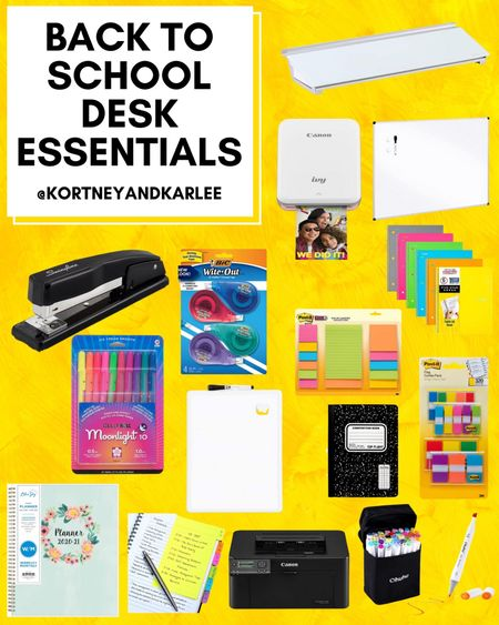 Back to school desk essentials!   Amazon finds | amazon girly things | amazon must haves | amazon best sellers | school supplies from amazon | amazon school supplies | back to school | amazon back to school | back to school supplies from amazon | amazon back to school supplies | Kortney and Karlee | #kortneyandkarlee #LTKunder50 #LTKunder100 #LTKsalealert #LTKSeasonal #LTKhome #LTKkids @liketoknow.it #liketkit