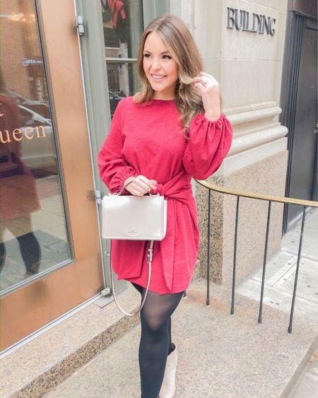 Amazon wrap dress http://liketk.it/33mz9 #liketkit @liketoknow.it #LTKunder50 wrap dress, winter dress, Amazon dress