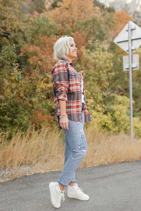 Old Navy SALE! 50% off SITEWIDE!  Small in plaid and 4 in straight jeans  These vans shoes are Def a splurge- but some of my FAVES!!!     #LTKsalealert #LTKunder50 #LTKshoecrush