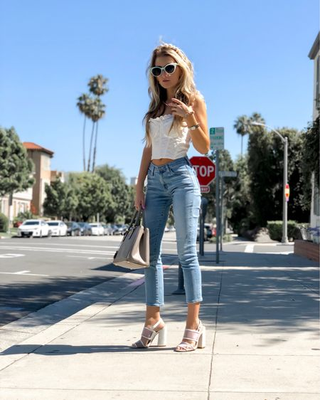 White top and cropped jeans http://liketk.it/2CLEc #liketkit @liketoknow.it #LTKstyletip #LTKspring
