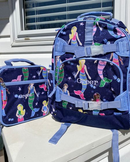 Little Miss Greer has a new Pottery Barn lunch box  & back pack! This Mermaid Mackenzie can be personalized. She will definitely be styling. http://liketk.it/3aXR6 #liketkit @liketoknow.it #LTKSpringSale #LTKkids #LTKunder50 @liketoknow.it.family Download the LIKEtoKNOW.it shopping app to shop this pic via screenshot