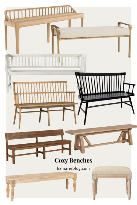 Cozy benches for every room!  #LTKhome