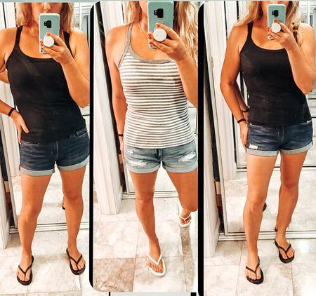 Major SALE on shorts for womens and kids from aeropostal. under 10$. size up. tanks are from target $8  #LTKstyletip #LTKsalealert #LTKunder50