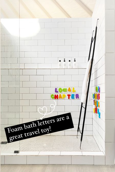 Letters are such a great travel toy. You can use them to practice in the car and then at your destination to make bath/shower time more fun!    #LTKhome #LTKkids #LTKfamily