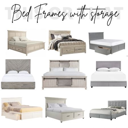 Bed Frame, Beds with Storage, Bedroom, Bedroom Decor, Bedroom Furniture, Home Decor, Wayfair, Target furniture, Walmart Decor, Walmart Furniture  #LTKhome #LTKfamily