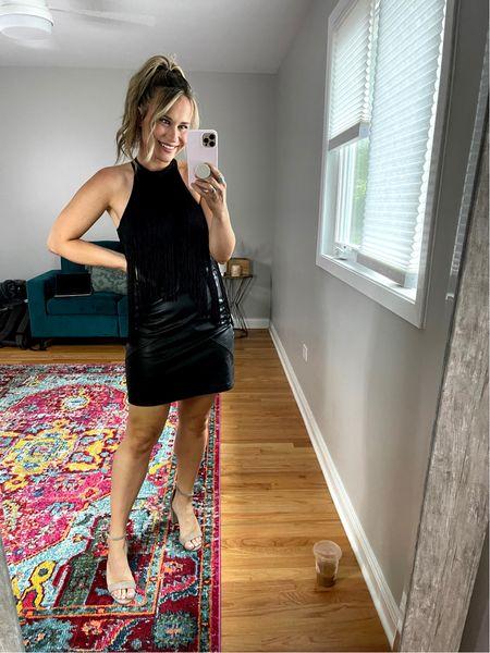My favorite amazon fashion find! This bodysuit is everything!!! Also linked my faux leather skirt and suede heels!   #LTKshoecrush #LTKunder50 #LTKsalealert