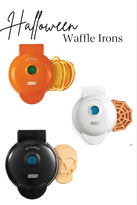 Halloween waffle irons fun for the kids! Pumpkin spiderweb and skeleton pancakes kitchen appliances mini waffles fall and harvest Modern farmhouse home accessories and decor cookware bakeware  #LTKhome #LTKkids #LTKSeasonal