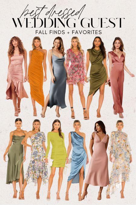 Fall wedding guest dresses 💃🏼 Occasion dresses, party dresses, floral dress, midi dress, wrap dress, cocktail dresses  #LTKSeasonal #LTKwedding #LTKstyletip