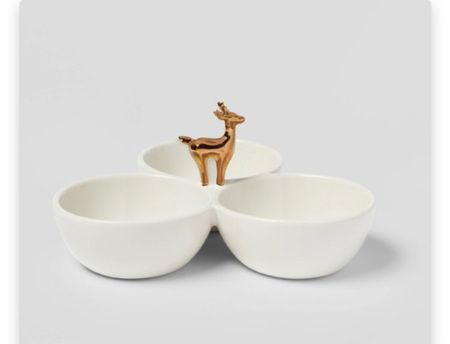 this is the most adorable little reindeer serving bowl!