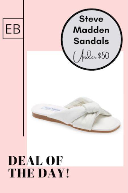 White leather puff slide sandals on major sale.  http://liketk.it/3gkfT #liketkit @liketoknow.it #LTKsalealert #LTKunder50 #LTKshoecrush Screenshot this pic to get shoppable product details with the LIKEtoKNOW.it shopping app