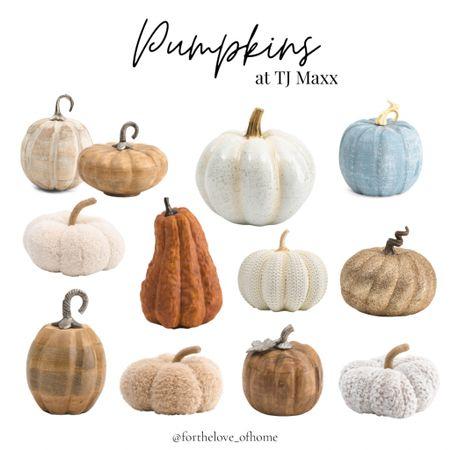 Pumpkin finds at TJ Maxx! These won't stick around for long!   #LTKhome #LTKSeasonal #LTKunder50