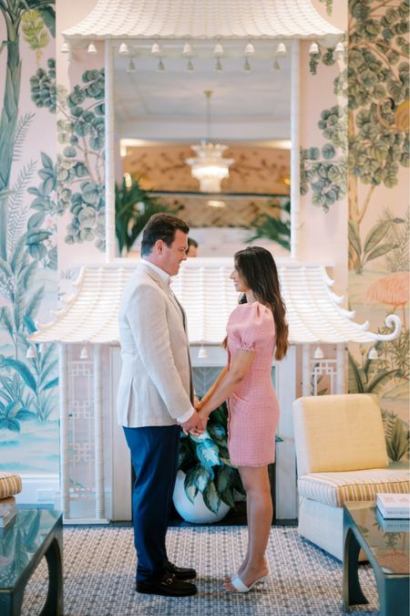 My forever lover boy Brennan! I love him the most.   How stunning is the colony?! Our outfits compliment the hotel interior so well! #engagement #engagementphotos #LTKWedding #engagementinFL #palmbeach #revolve @revolve #revolveme #pinkdress   #LTKwedding #LTKstyletip #LTKfit