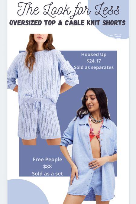 Cable knit Sweater shorts Sweater set Free people set   #LTKbump #LTKstyletip #LTKsalealert