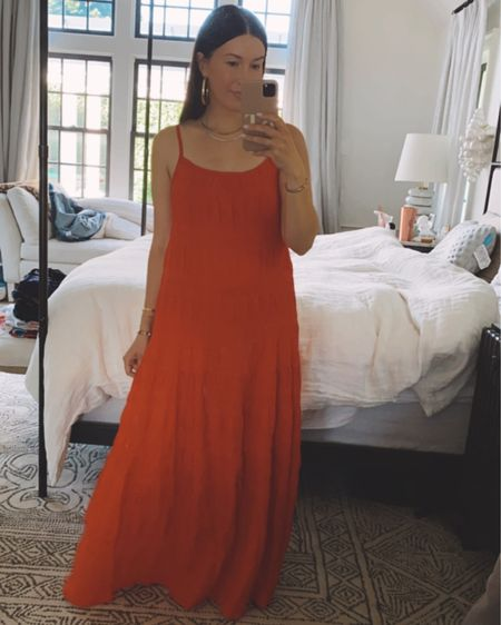 perfect summer maxi, true to size, wearing size small, 4th of July outfit http://liketk.it/3hhT1 @liketoknow.it #liketkit #LTKstyletip