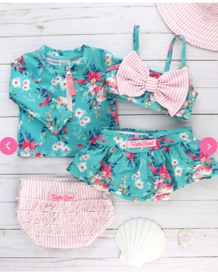 These girls swim sets are perfection! I love the mix and match capability, so you really have 4 suit options. Check these under $50 sets out for your baby, toddler or young girl! Kids swimwear // mix and match swim // toddler swimwear .  http://liketk.it/3bf7v @liketoknow.it #liketkit #LTKkids #LTKswim #LTKunder50