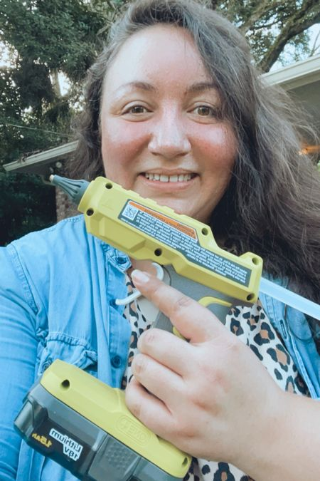 Four words that will change the way you DIY…  Battery. Powered. Glue. Gun.   No more pesky wires in your way and no worries about needing an electrical outlet nearby.  Pure DIY freedom!   #LTKhome #LTKunder50 #LTKstyletip