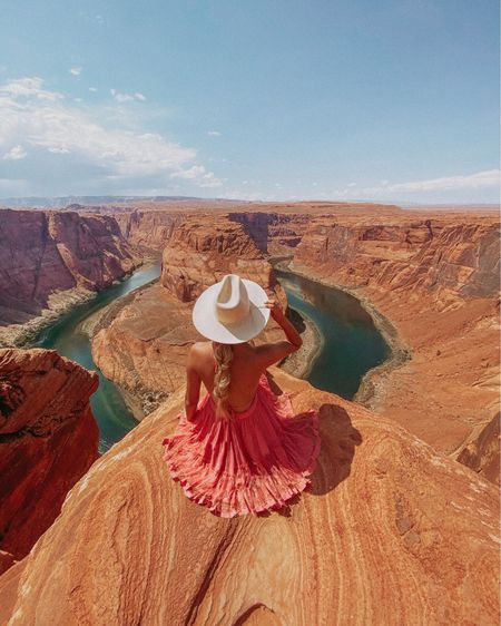 Appreciate this moment💖 Stop and look around you. Be thankful for all you have and where you are because this time next year, nothing will be the same. #pinterestquote  Finally went to Horseshoe Bend! It was so beautiful and would 10/10 recommend. Save this post for Inspo ✨  Dress is under $25!  #LTKtravel #LTKstyletip #LTKunder50
