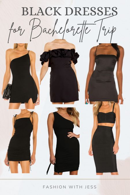 Black dresses for bachelorette trip Shop your screenshot of this pic with the LIKEtoKNOW.it shopping app http://liketk.it/3k6wK @liketoknow.it #liketkit #LTKstyletip #LTKunder100 #LTKwedding