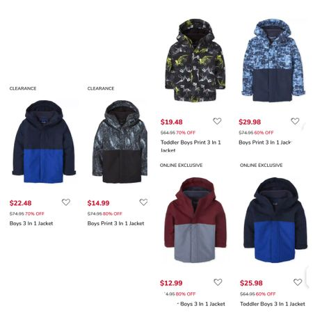 My boys have these coats! They're very warm! Or you can take the inside layer out and use them for more of a jacket. We got them a size up and have used them for a couple years. Sizes are limited in the $12.99 option because it's an INCREDIBLE markdown but all the other prices are also AWESOME! Ship F R E E!  #f2fd0321 #boyscoats #coats #LTKfamily #LTKkids #LTKbaby http://liketk.it/3b1M4 #liketkit @liketoknow.it