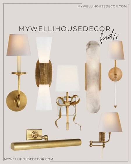 Sconces are life and light, too! 😜 these beautiful wall sconces and pictures lights will bring life to your pictures and wall art   Use my code MYWELLIHOUSEDECOR for 10% off 🤍  #LTKstyletip #LTKhome