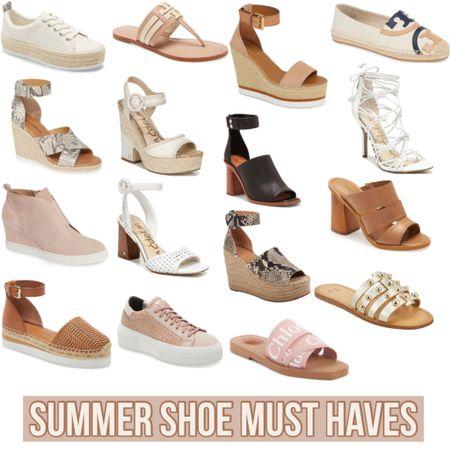 Summer Shoe Must Haves  #nordstrom #summershoe #espadrille #chloe #seebychloe #chloesandal #sandal #summersandals #bloggerstyle #sale #blogger #salealert #styleblogger #toryburch #samedelman #stevemadden #shoecrush #shoeaddict #shoelover #LTKshoecrush #LTKunder100 #LTKsalealert @liketoknow.it #liketkit http://liketk.it/2R6Nm