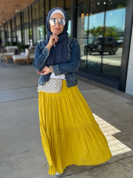 Yellow and blue 💛💙 @liketoknowit #maxiskirt #springoufit   #LTKunder100 #LTKSeasonal #LTKstyletip