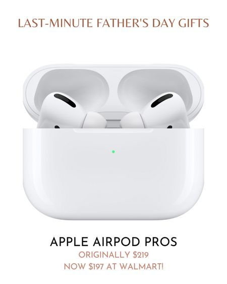 If your dad needs new earphones, he'll enjoy the Apple AirPods Pro.  The Apple AirPods Pro are wireless, BlueTooth earphones that cancel noise. The earbuds feature a customizable fit for comfort. Without wires, your dad can freely move around while listening to music or talking on the phone. He can wear them in the office, while running errands, or while working out.   Originally $219, the Apple AirPods Pro are on sale for $197 at Walmart. Get your dad, or yourself, a pair now!  #LTKmens #LTKsalealert #LTKfit