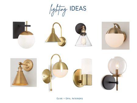 Modern brass sconces for a bathroom update or great for bar lighting.  Sconces, brass lighting, bathroom lighting, wall sconce, lighting ideas, bar lighting   #LTKhome
