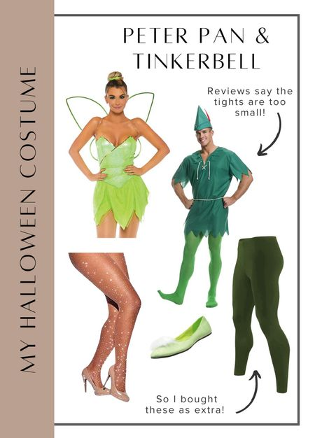The poll results are in… Marky and I will be Peter Pan & Tinkerbell for Halloween this year! #laurabeverlin #halloweencostume #amazonhalloween  #LTKSeasonal #LTKunder50 #LTKunder100