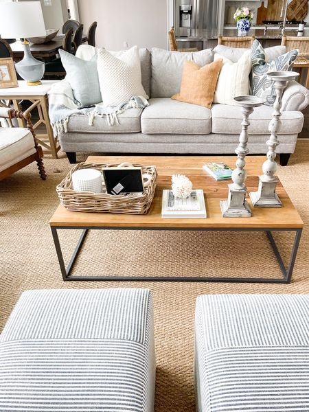 New home living room update // Amazon finds // pottery barn finds // throw pillows and covers // lamp // ottoman // home finds // Amazon home   #LTKunder100 #LTKstyletip #LTKhome
