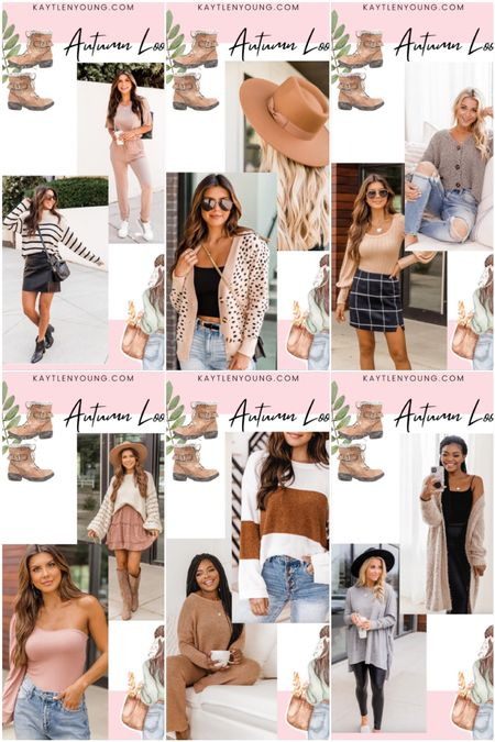 Autumn outfits transition pieces cozy sweater and cardigan closet staple pieces fall skirts fashion