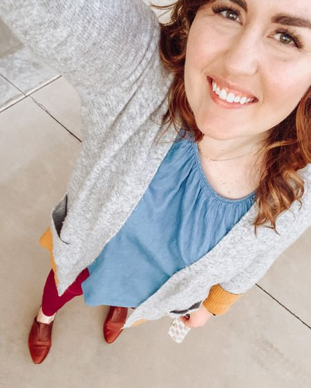 Starting off Monday with a cozy cardigan and my favorite fall shoes!  I'm linking some similar options.  #LTKSeasonal #LTKfit