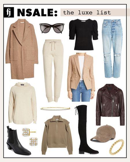 Luxe, investment picks from the #nsale. #nordstrom #anniversarysale #athleisure #leatherjacket #cashmere #fallfashion #rippeddenim #boots #booties #goldjewelry #fashionjackson http://liketk.it/3juvK #liketkit @liketoknow.it #LTKsalealert #LTKstyletip #LTKshoecrush