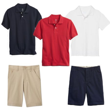 Back to school! We love these uniform polos and shorts for boys.   #LTKSeasonal #LTKkids #LTKfamily