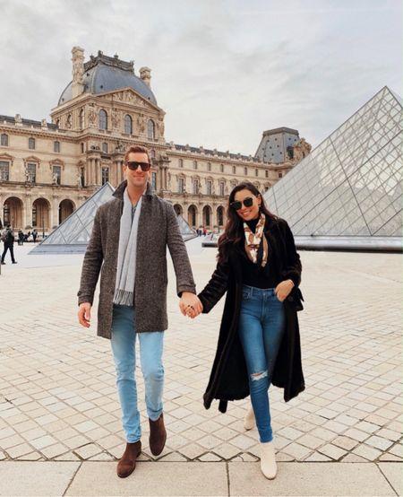 Wool coat and white booties in Paris    #LTKtravel #LTKstyletip #LTKshoecrush