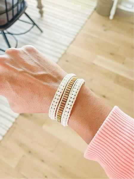 This little white and gold wrap bracelet is on sale die $24 today! Normally $39.   #LTKstyletip #LTKunder50 #LTKsalealert