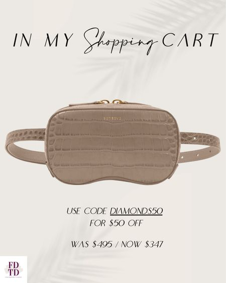 In love with this belt bag in textured leather and this color is great for fall.  Use code DIAMONDS50 for an additional $50 off   #LTKSeasonal #LTKsalealert #LTKitbag