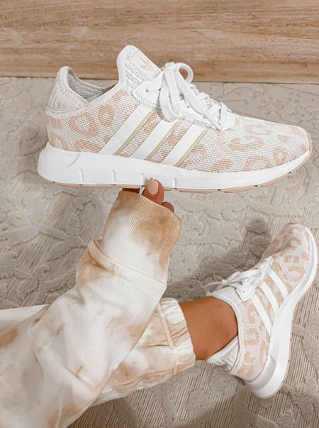 Nsale Leoaprd adidas sneakers size 6.5  #laurabeverlin  #LTKunder50 #LTKshoecrush #LTKsalealert