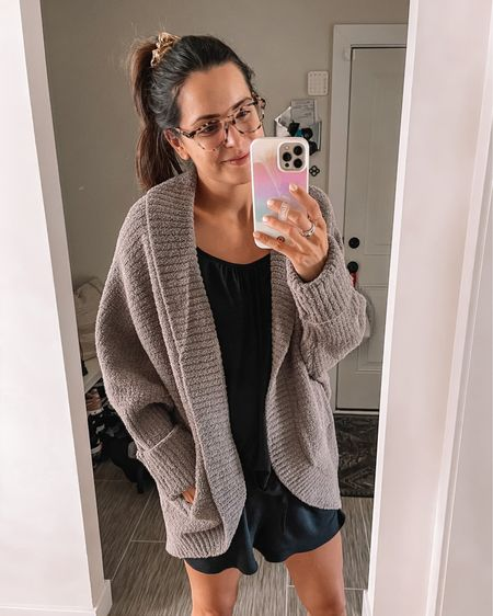 Nsale, Nordstrom anniversary sale, #nsale  Barefoot Dreams cardigan: sized up to a L/XL for extra cozy fit  - Nursing cami: true to size (S) PJ Shorts: true to size (S) http://liketk.it/3k1Kj @liketoknow.it #liketkit #LTKsalealert #LTKunder100 #LTKunder50