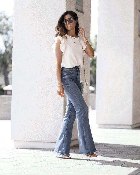 Body suit and jeans are on sale today! Express style, workwear, casual, StylinByAylin   #LTKunder100 #LTKstyletip #LTKsalealert