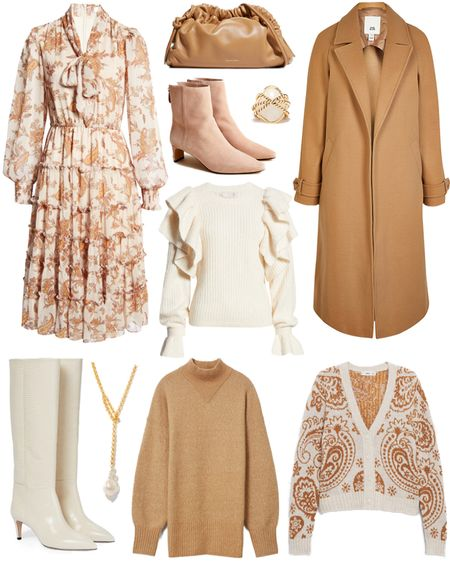 Nothing screams fall more than paisley + camel 🙌🏼 Love these chic, feminine pieces!   #tssedited #thestylescribe #fall #autumn #classicstyle #coat #sweaterweather #cardigan #paisley      #LTKSeasonal