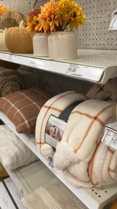 Target fall home decor is so cute!! Loving the colors and this Sherpa throw is so soft and cozy.    #LTKhome #LTKSeasonal #LTKHoliday