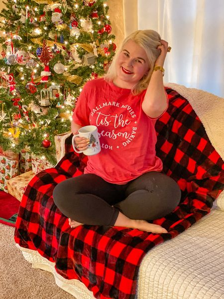 All about that Hallmark Christmas Movie Life.   I sized up in this graphic tee for a looser fit.  #pinklily #christmasgraphictees   #LTKunder50 #LTKsalealert #LTKgiftspo