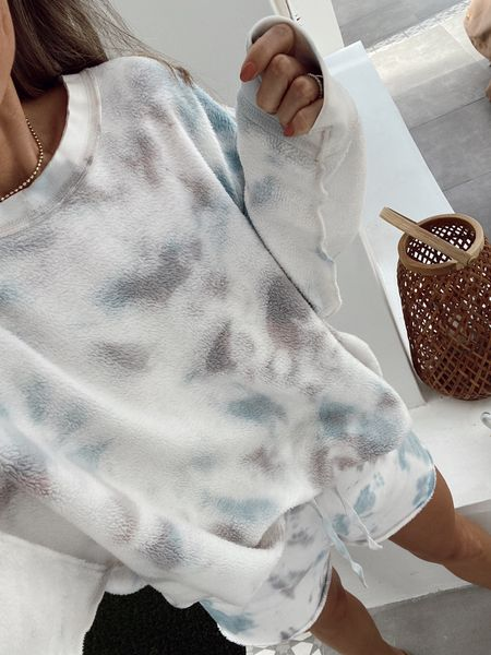 Comfy tie dye set on sale and an additional 20-30% off. Wearing my regular size and it comes in several colors. //   #LTKsalealert