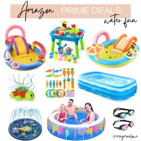 Summer pools and water toys on Amazon prime day deals   #LTKfamily #LTKswim #LTKkids