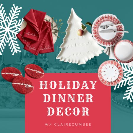 William Sonoma holiday dinner Christmas Dinner Wreath  Coasters Red and white Tree   Follow my shop @clairecumbee on the @shop.LTK app to shop this post and get my exclusive app-only content!  #liketkit #LTKGiftGuide #LTKSeasonal #LTKHoliday @shop.ltk http://liketk.it/3p2n5  #LTKHoliday #LTKhome #LTKGiftGuide